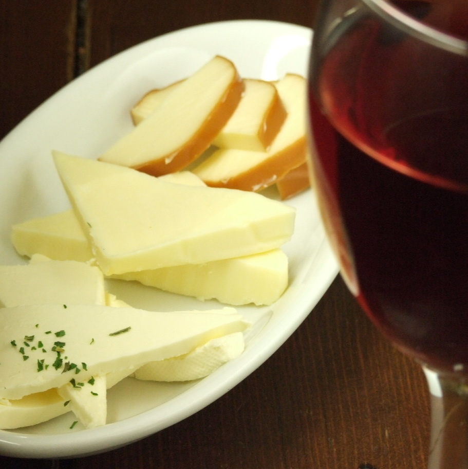 Three kinds of cheese