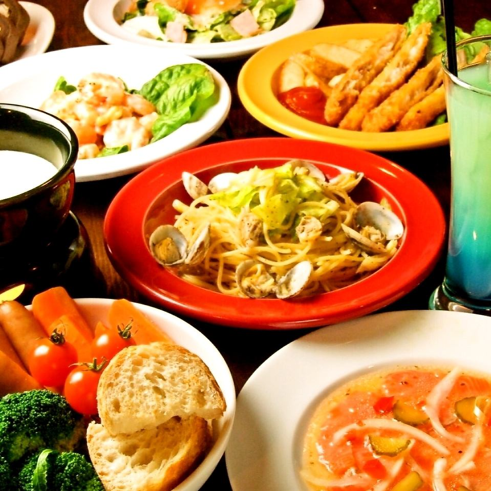 Even if you eat a lot, super deals! DRINK & FOOD Almost 300 yen (tax excluded) ♪