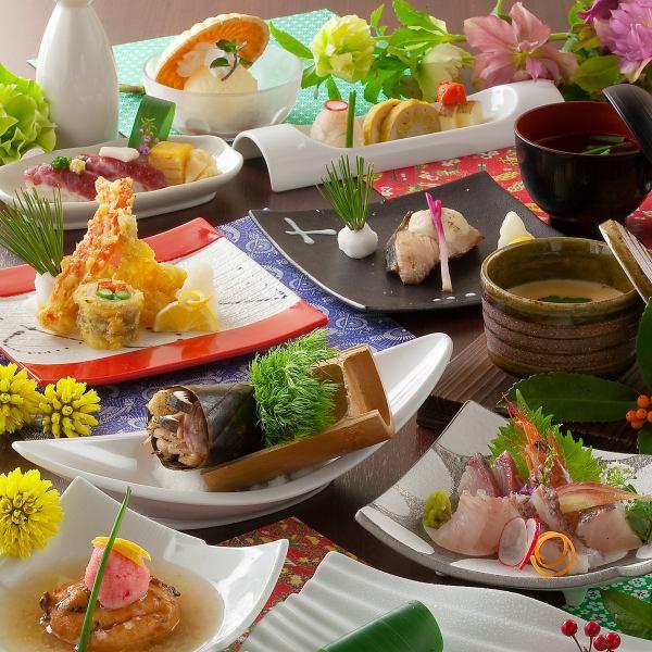用豪华海鲜的热情款待畅饮火锅宴会套餐9道菜4000日元〜◎好客和宝石