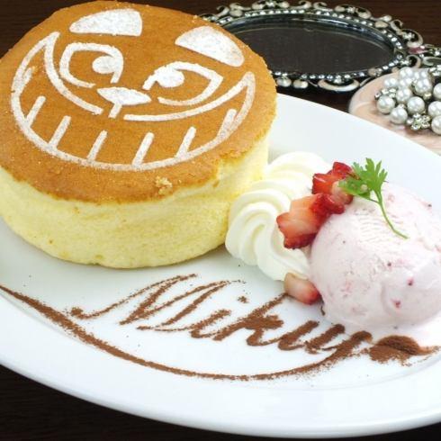 チェシャ猫のパンケーキ/1000円◇◆アリスをモチーフにしたカフェが心斎橋に登場♪