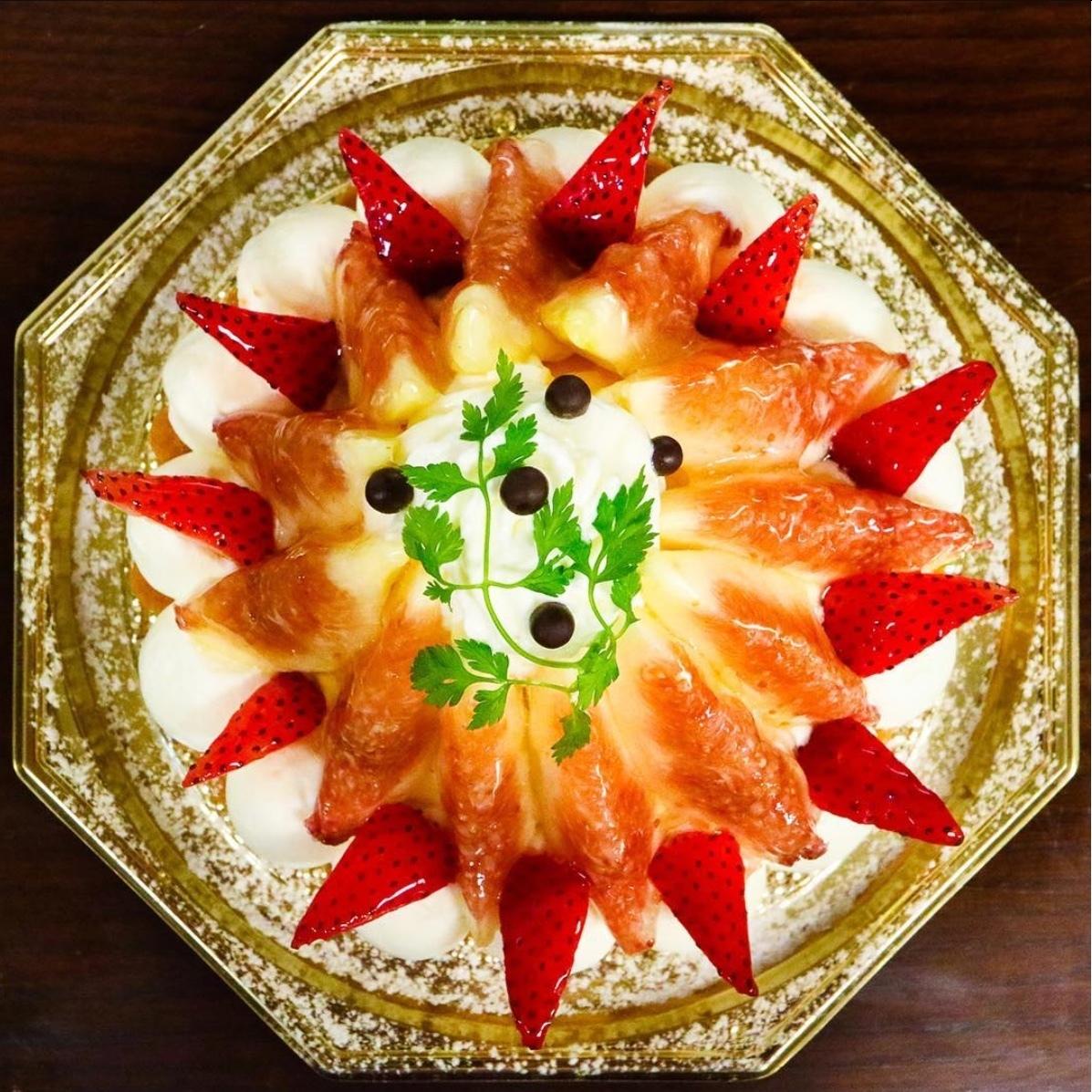(季節限定)イチジクとイチゴのタルト
