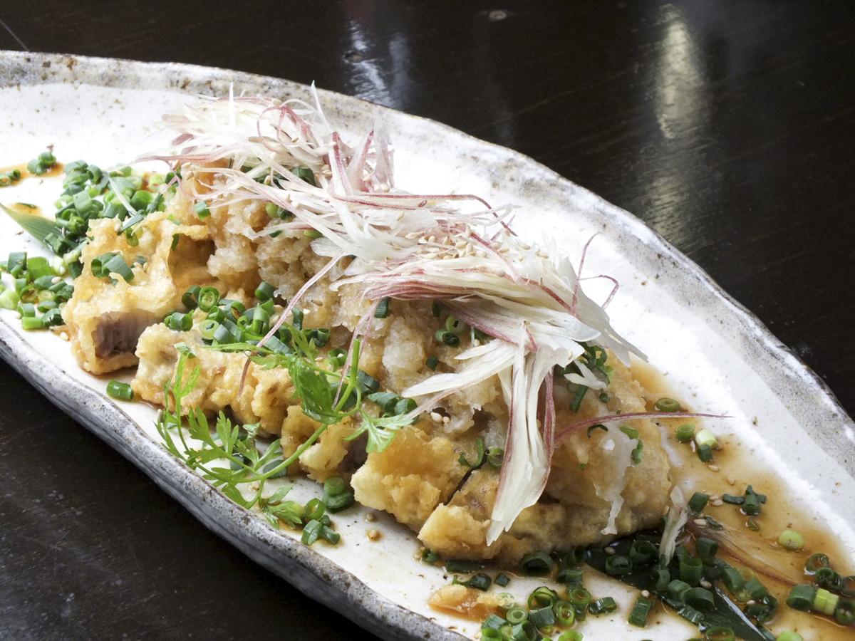 Tempura pork vinegar with pork loin