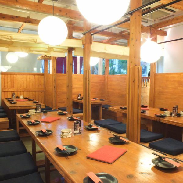 我們最多可容納50人OK♪我們可以調整多達30人的半尺寸房間也適合大型宴會。
