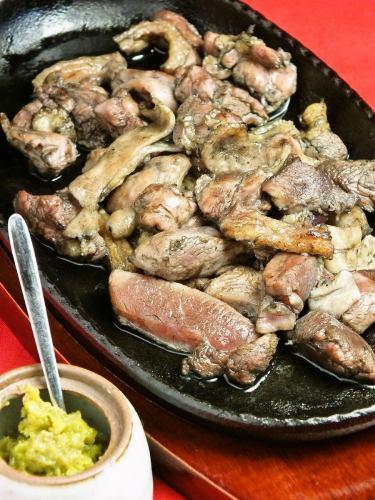 토종 닭 복숭아 숯불