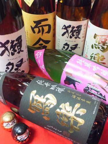 日本酒の銘柄豊富