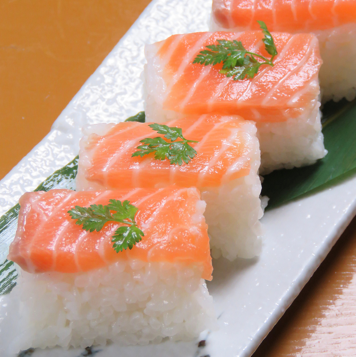Pushed salmon