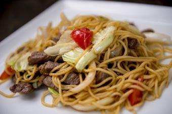 Grilled spaghetti