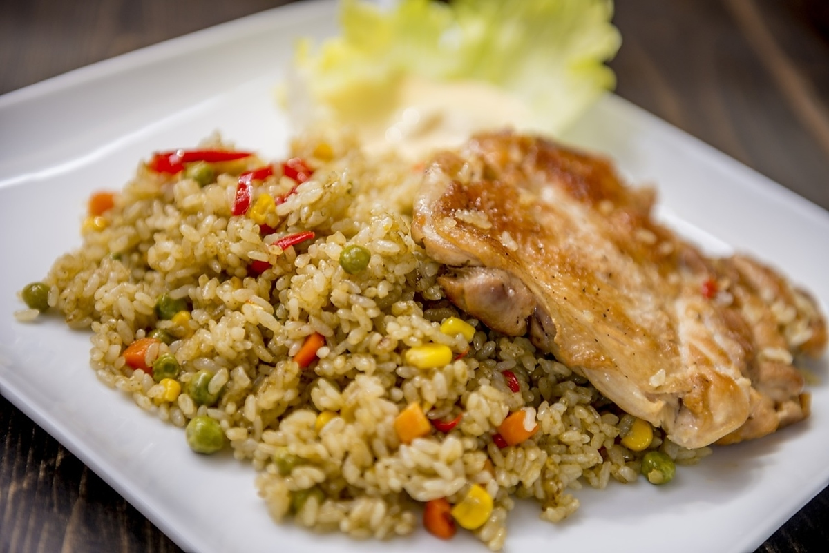 [ARROZ CON POLLO] Herb chicken rice