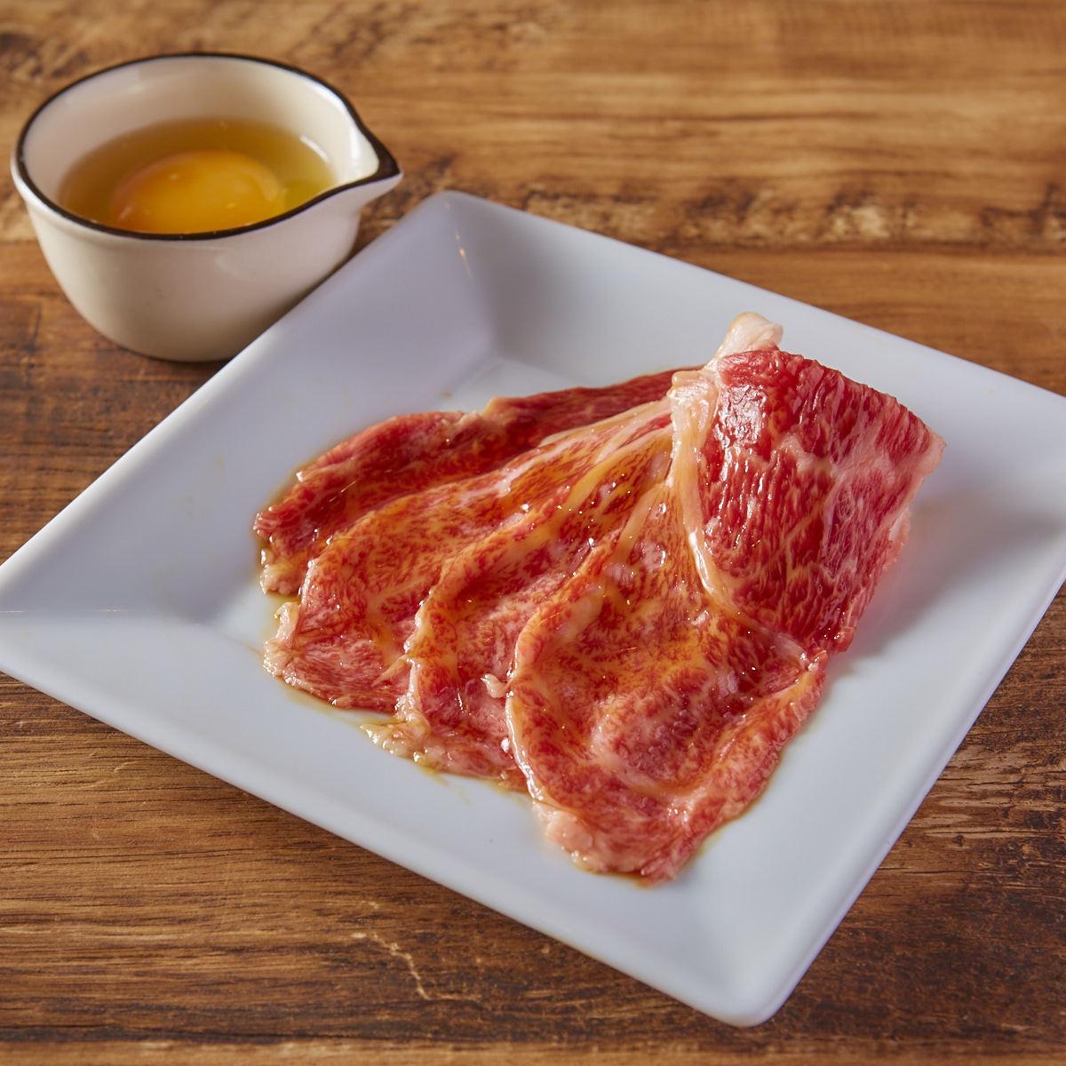 国内日本黑和牛牛肉A5烤腰肉 - 配鸡蛋 -
