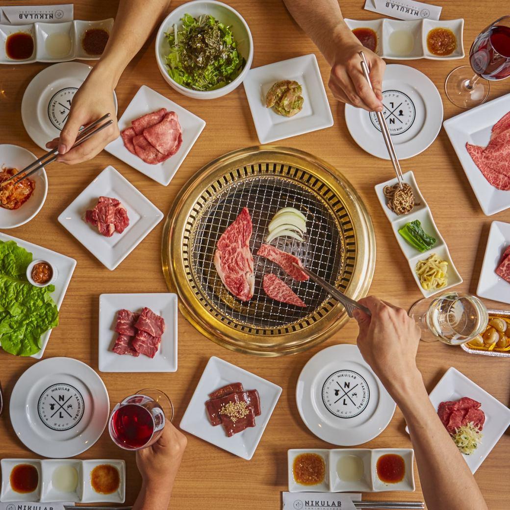 ★从Chikushi口步行2分钟★自助和王牛肉A5排名×设计师酒吧♪