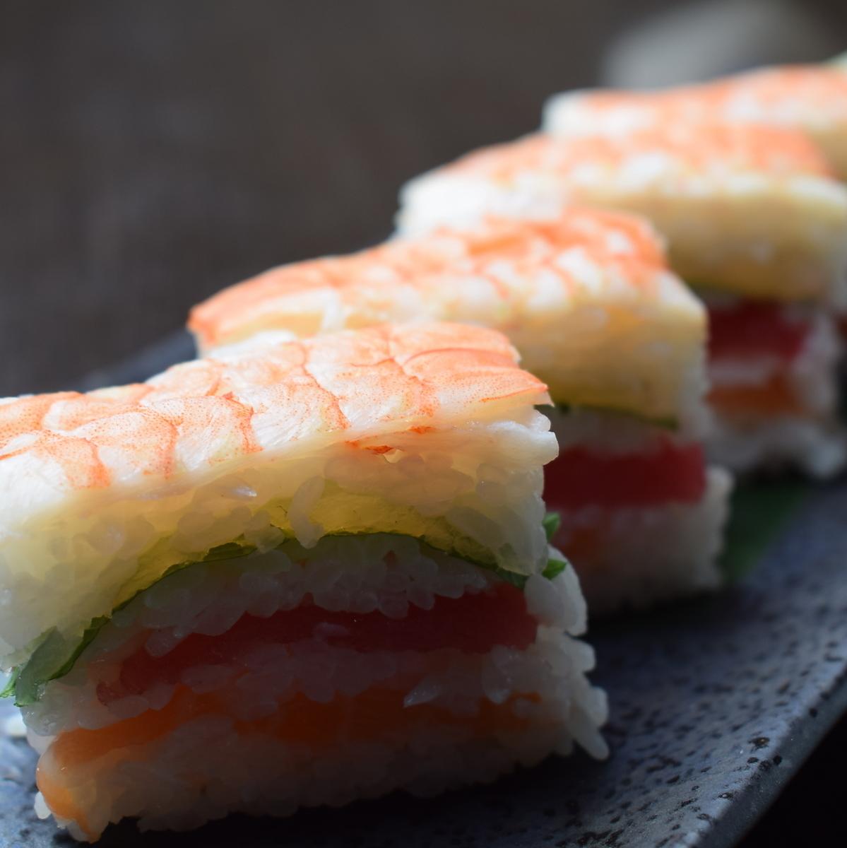 Kitamaki pushed sushi