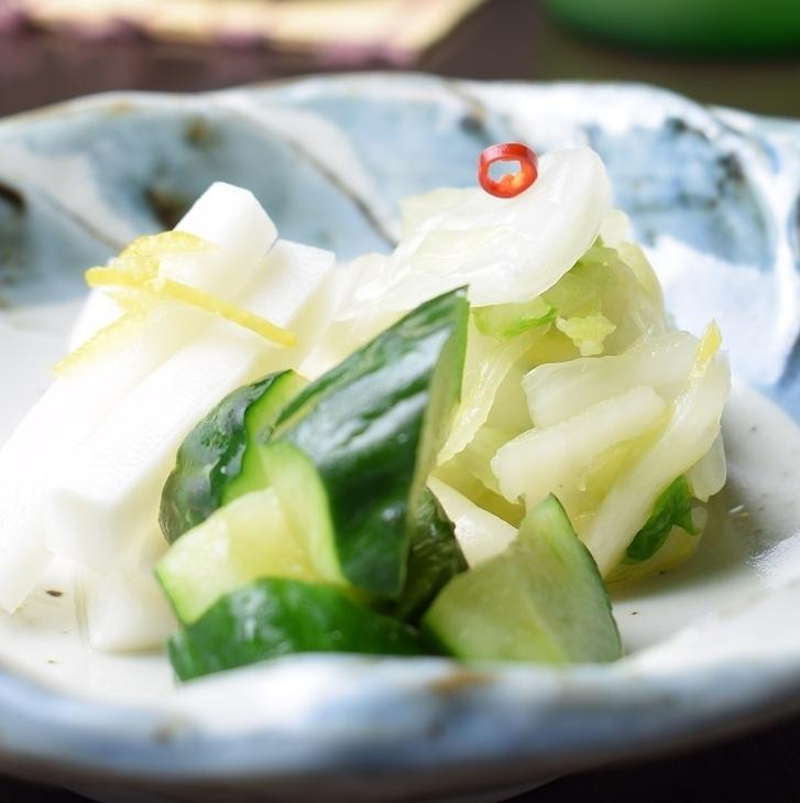 Assorted homemade pickles 3 varieties