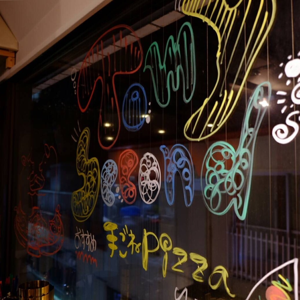 Graffiti in the window and direct special space!