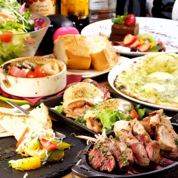 【Popular ★ girls' party course】 10 dishes and 50 alcoholic drinks available at any price = 3480 yen