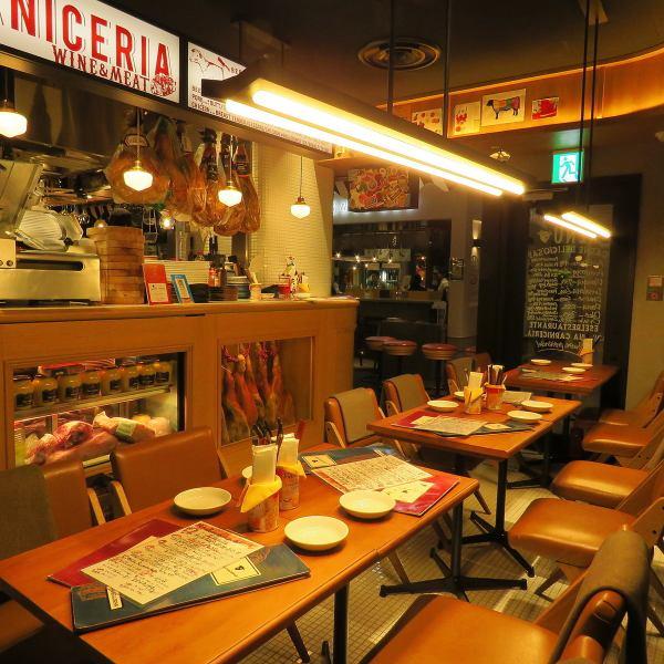 【アクセス良好】カルニセリアは渋谷PARCOのB1Fにございます。渋谷駅から徒歩5分の好立地!行きも帰りもスムーズにご利用いただけますので、歓送迎会などのパーティーシーンや、日常使いでも様々なシーンでご利用いただけます♪