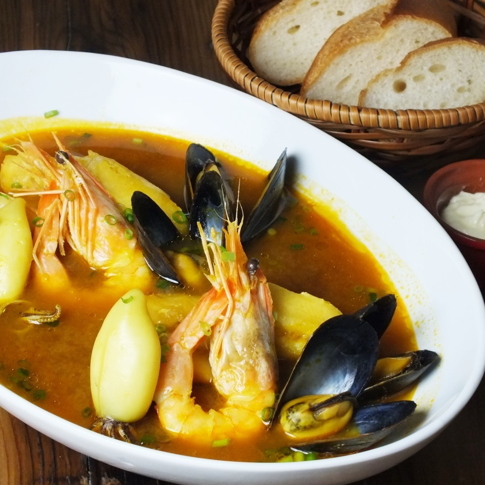 """Our specialty"" Bouya base made from the soup of Ise shrimp"