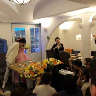 【婚礼第二方计划】自助餐为60位客人,定制感觉最多45人坐在床上♪\ 4500~