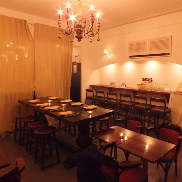 【Half-price for 10 people ~ possible!】 The calm dining bar nestled in Riverside.♪ You have been well received at the wedding second party ♪ Special day in a special space.We are preparing projector.Director etc. Please consult.In addition, it is possible to use it in various scenes such as girls' party, birthday party, date, work return, private party, family dinner ◎