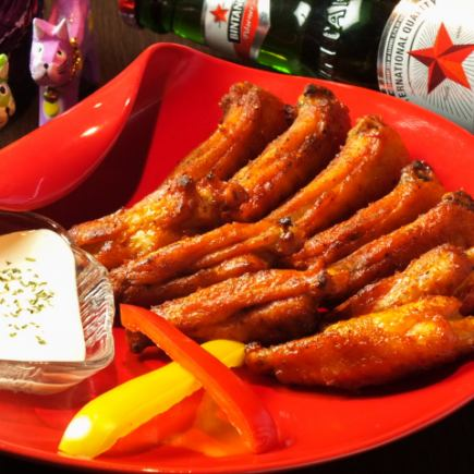 Popular NO, 1 !! etc ♪ Buffalo - Chicken included 【Satisfactory course】 3H [Drinking] Live also OK + 7 items 4000 yen → 3500 yen