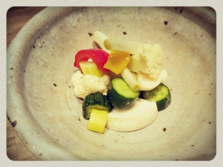 Various vegetable pickles