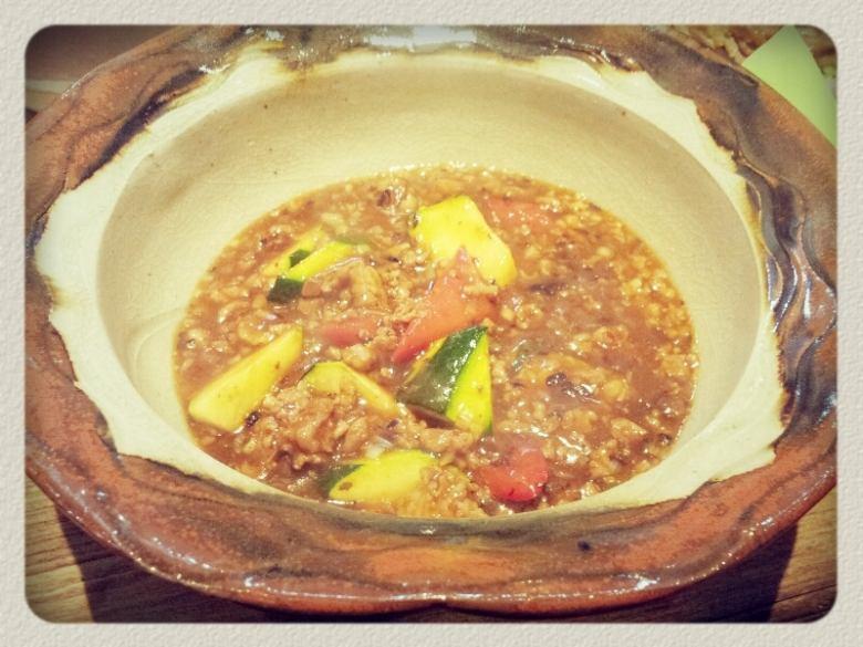 Stir-fry the zucchini's marbow