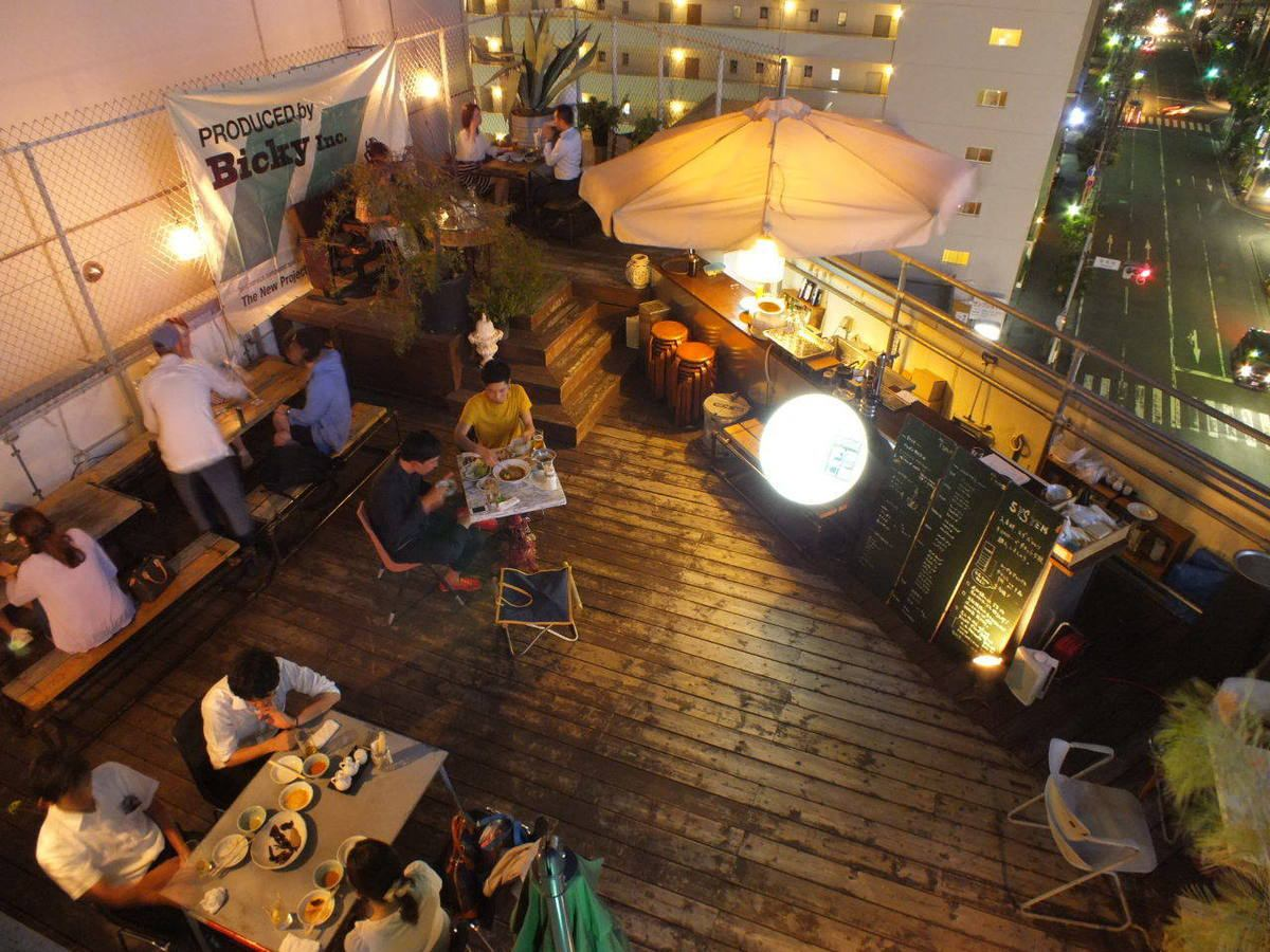 Beer garden is open until October ♪ Stylish beer garden is also recommended for girls' party and banquets ★