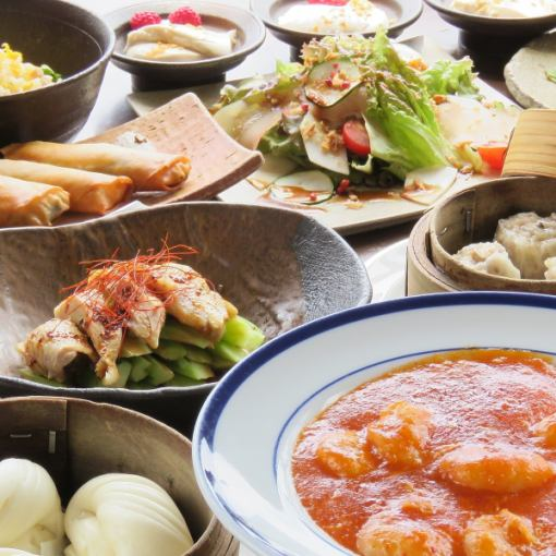 Luxury Chinese Sanatorium ★ BIWA Banquet Course «Nouvelle Chinois Course» Yonao Yale 2.5 H with all you can drink 5000 yen