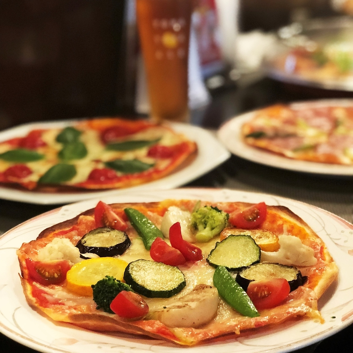 Seasonal vegetables Pizza 1000 yen (tax not included) + 100 yen to take out