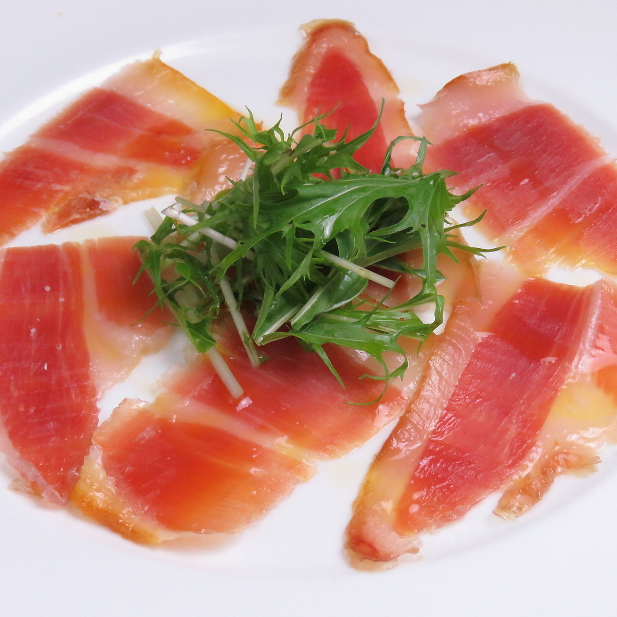 Assorted raw ham
