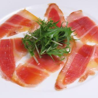 Of raw ham platter