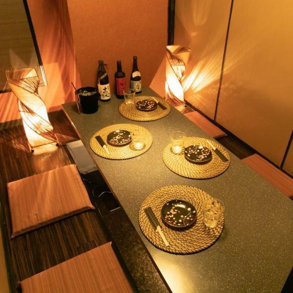 1Fは全席テーブル個室♪靴を脱がずにご利用頂けます★テーブル席の貸切も可能!