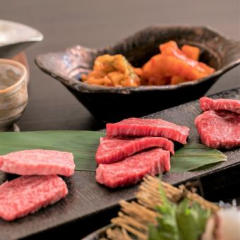 "◆ Feel free to ""Mon course"" including Imari cow's Yukke, 8 items including Harami and Calvin 【90 minutes with all you can drink】"
