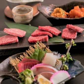 "◇ Recommended ""Flower Course"" Make fresh fish in season, popular aged tan, top loose etc. 9 items to enjoy meat × fish"