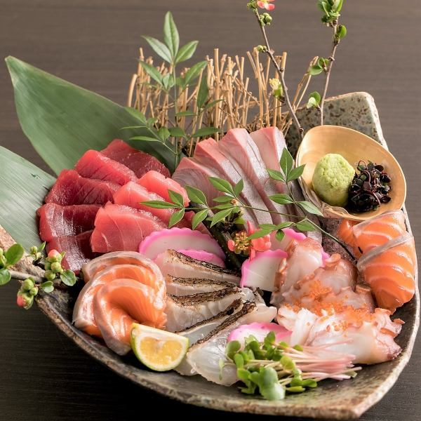 【Another signboard】 Fresh prepared sashimi platter is prepared from 2 people!