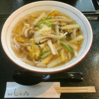 生姜もち麦麺(温)