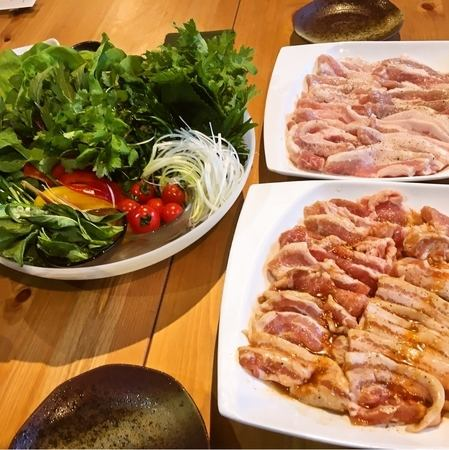"Popular! Recommended for girls' banquet / banquet! ""Samgyeopsal pot hot spring course"" of Shinpuru 3500 yen"