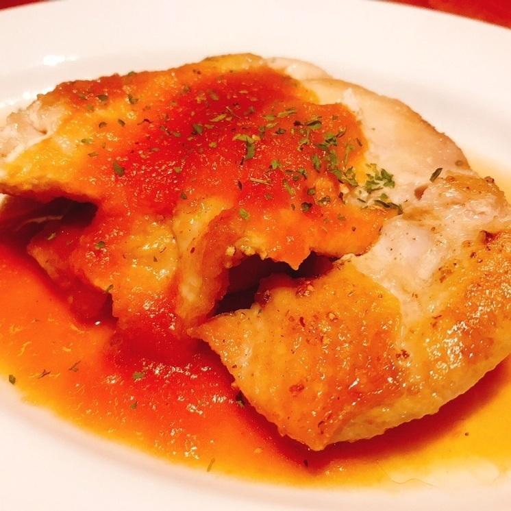 熟成鶏のステーキ