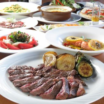 【DINNER】 Premium plan of all 10 items with popular meat and fish dishes ⇒ 4000 yen ★ Chef's recommendation!