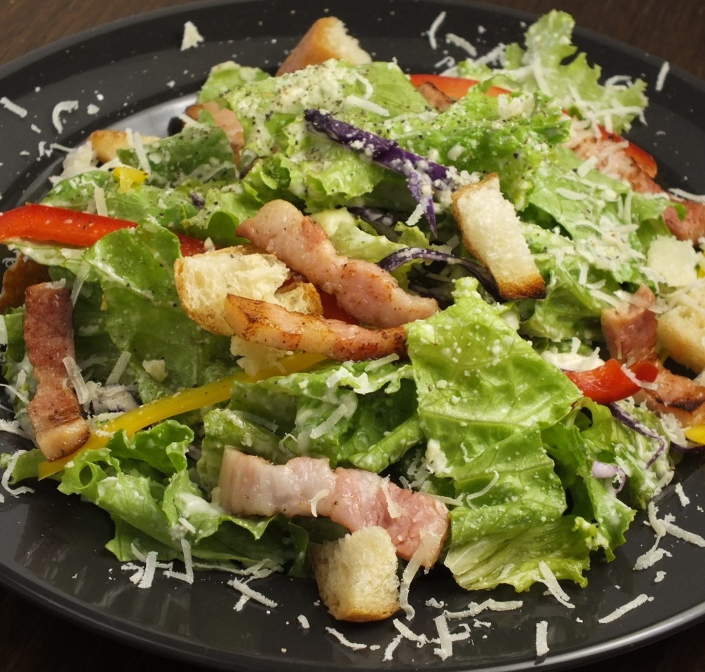 Grilled Bacon and Grana Padano's Caesar Salad