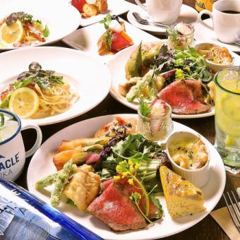 女の子の好きがたくさん♪◆前菜7種やデザート付の女子会コース3500円(税込)
