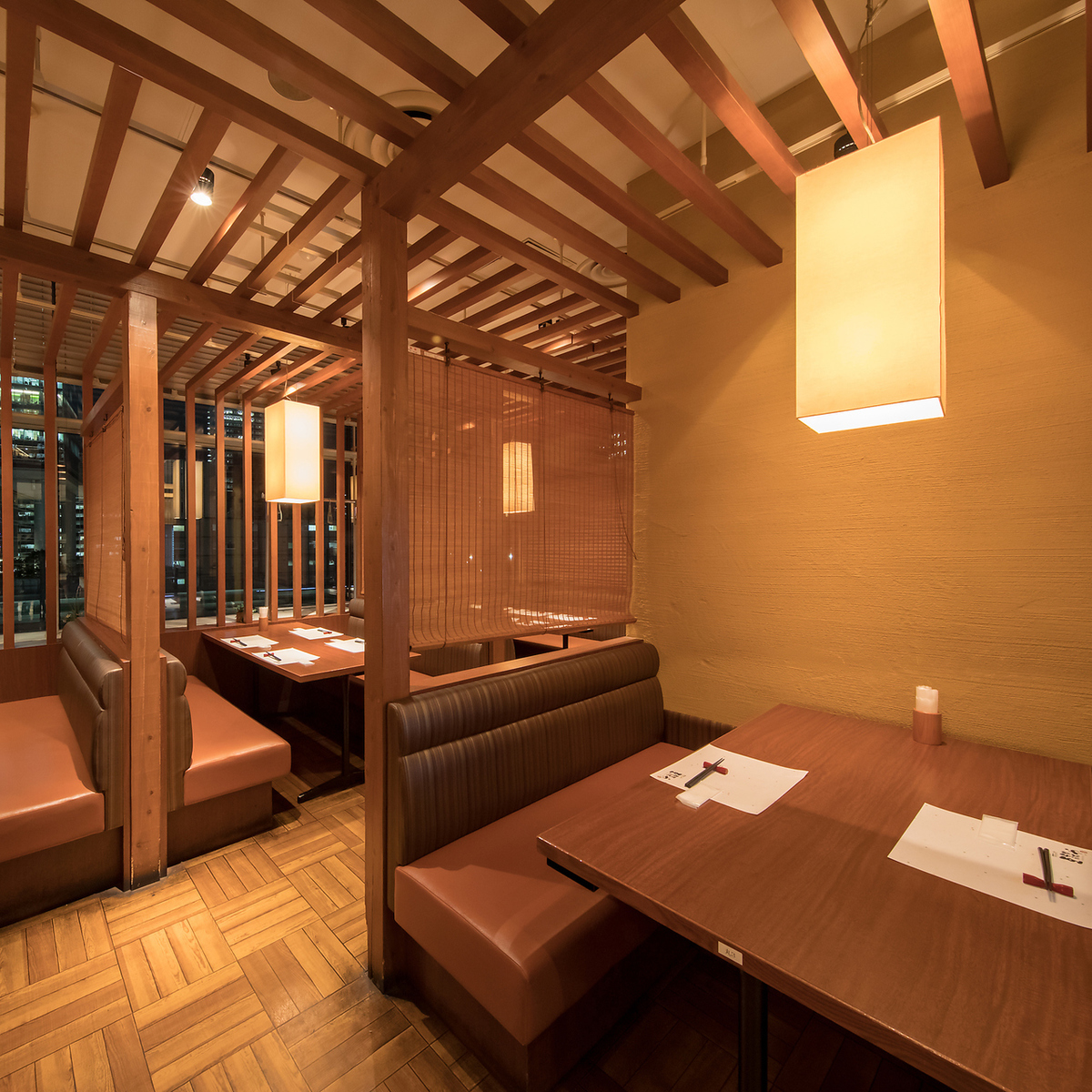 It is a semi-private type BOX seat which is perfect for the girls' party and the daytime party, but at night it changes the atmosphere and makes the mood even more ♪ The interior and landscape, clean and open, with the specialty of attention Please enjoy the sake while relaxing comfortably ♪