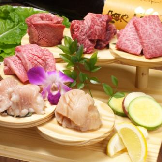 【Hanul specialties】 Stairs of meat 【Meat staircase】 You can taste all kinds of meat a little at a time!