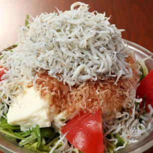듬뿍 멸치와 냉 두부의 일본식 샐러드