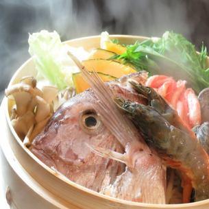 생선과 찜 조개 특상 세이로 찜