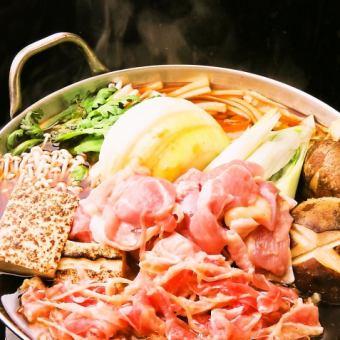 3銘柄から選べるビール&鶏の水炊き鍋&名物阿波尾鶏きも焼&鮮魚付き2時間飲み放題コース4500円