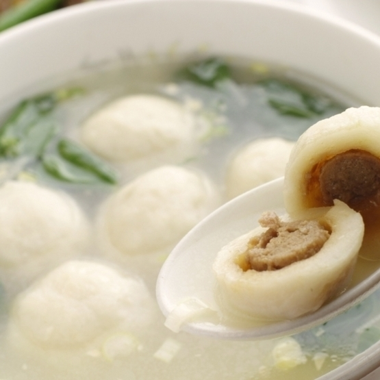 Soup with fish balls