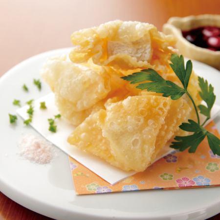 Deep-fried camembert