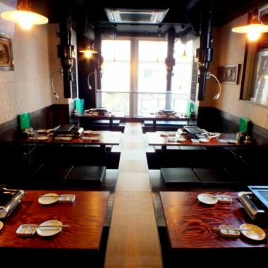 【Digging Tall Floor Reservations OK】 The 3 floors can be used for up to 32 people ◎ Please use for the New Year's party and banquet ♪ Fully floorful private valuable private space! Spacious seats Please enjoy the banquet slowly ♪ Okuriki Floor Recommends Online Reservation ★ Sakuragi-cho / Noge / Izakaya / Farewell Accommodation / All you can drink / BBQ / Hormone