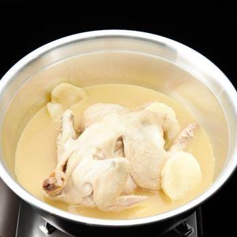 Soy milk chicken collagen pot (one burning pot / half one winged pot)