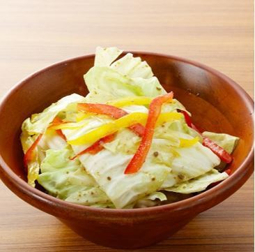 Anchovy marinade in cabbage